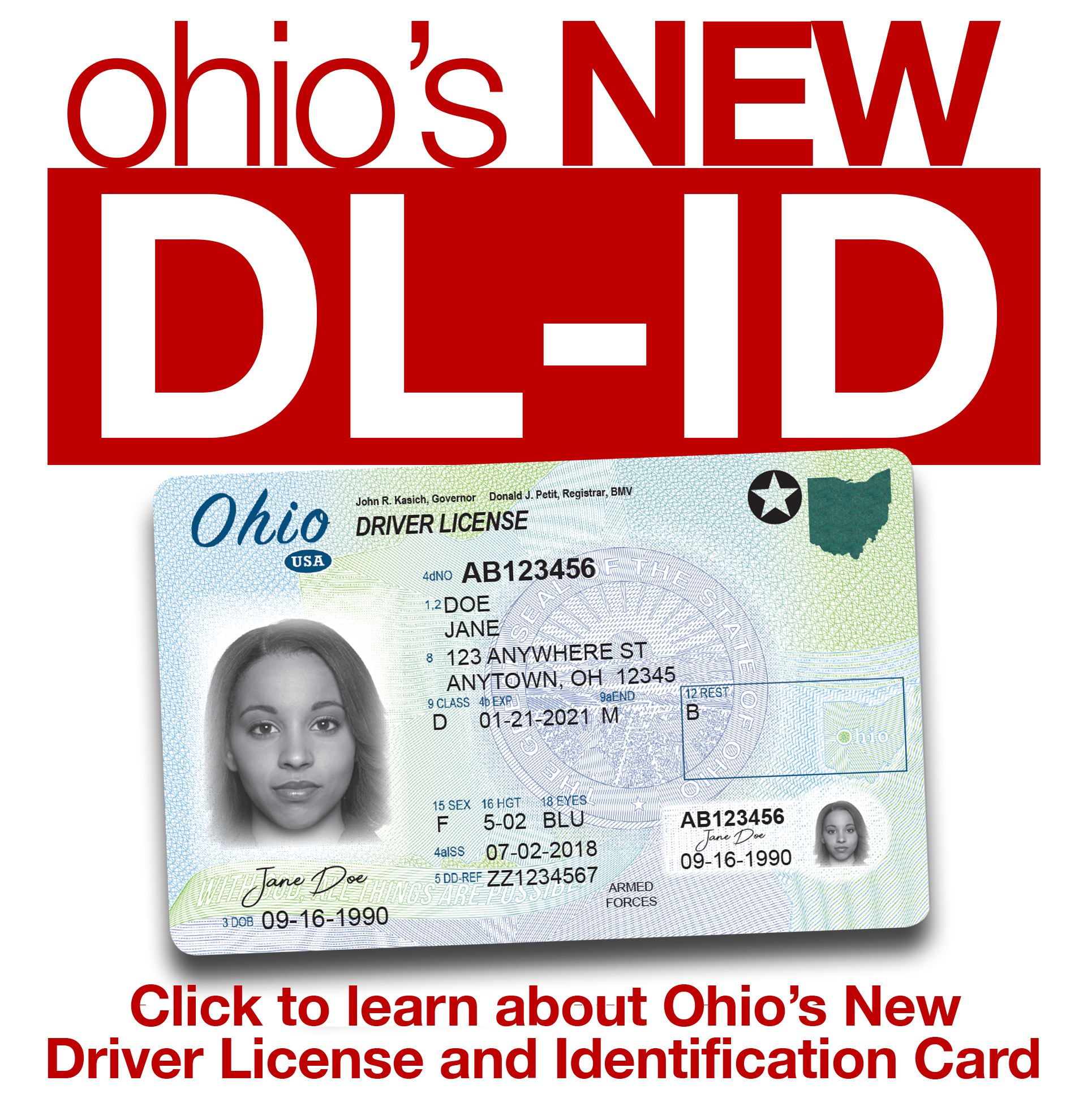 New Driver license ID card home page